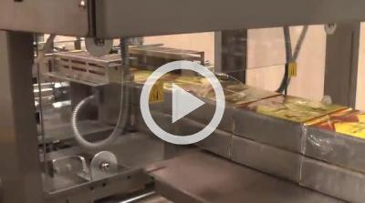 Stacking Collating and Overwrapping Tea Cartons at 20 per minute - B125RH