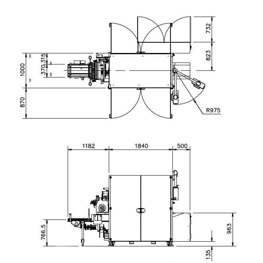 TMX Series engineering drawings