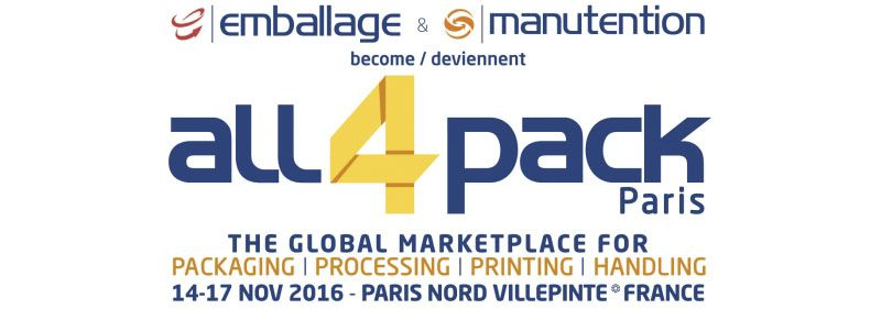 Emballage Alll4Pack Paris 2016 Show Banner
