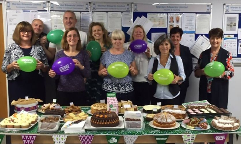 Macmillan Coffee Morning Bakers at Marden Edwards