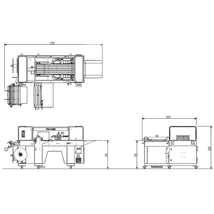 Semi-Auto Series engineering drawings