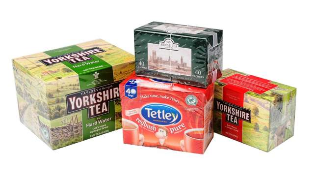 Wrapped Tea Cartons
